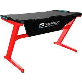 Sandberg Fighter Gaming Desk černo/červený