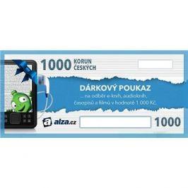 Elektronický dárkový poukaz Alza.cz na nákup e-knih, audioknih a časopisů v hodnotě 1000 Kč