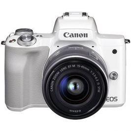 Canon EOS M50 bílý + EF-M 15-45 mm IS STM