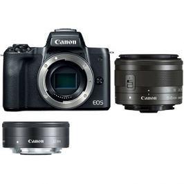 Canon EOS M50 černý + EF-M 15-45 mm IS STM + EF-M 22 mm