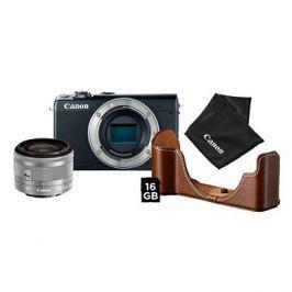 Canon EOS M100 černý + EF-M 15-45 mm IS STM stříbrný Value Up Kit
