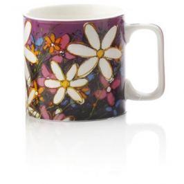 Maxwell & Williams Hrnek 350ml Art Love Life, fialový, bílá květina