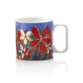 Maxwell & Williams Hrnek 350ml Art Love Life, modrý, červená květina