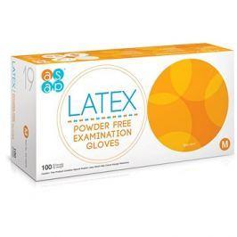 ASAP Latexové rukavice bez pudru 100 ks M