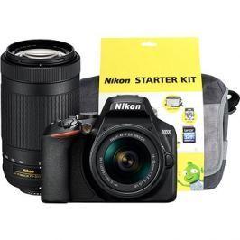 Nikon D3500 černý + 18-55mm VR + 70-300mm VR + Nikon Starter Kit 55mm - 32GB