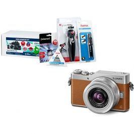Panasonic LUMIX DMC-GX800 hnědý + objektiv 12-32mm + Alza Foto Starter Kit 32GB