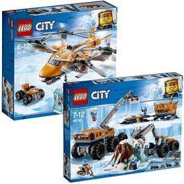 LEGO City 60195 Mobilní polární stanice + LEGO City 60193 Polární letiště