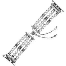 Eternico Apple Watch 42mm / 44mm Pearl Bracelet bílý