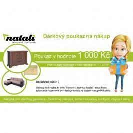 Nábytek Natali  Dárkový poukaz v hodnotě 1 000 Kč