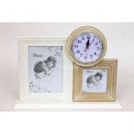 Autronic Dekorace Set fotorámečků s hodinami