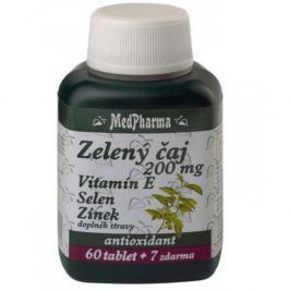 MedPharma Zelený čaj 200mg vit.E+Se+Zn tbl.67