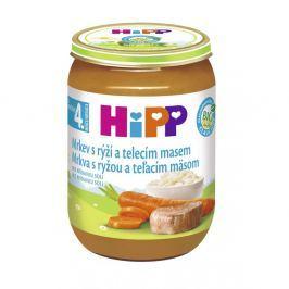 HIPP BABY BIO Karotka s rýží a telecím masem 190 g