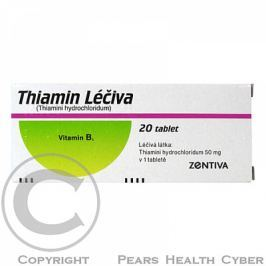 THIAMIN LÉČIVA 20X50MG Tablety