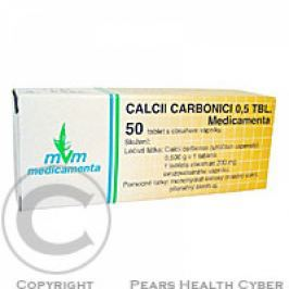 CALCII CARBONICI 0,5 TBL. MEDICAMENTA 50X0.5GM Tablety