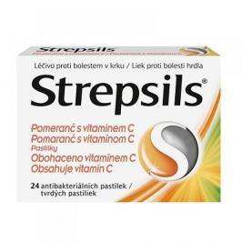 STREPSILS pomeranč s vitamínem C 24 antibakterialních pastilek
