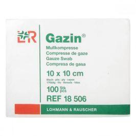 Gáza hydrofilní skládaná kompr. Gazin 10 x 10 cm / 100 ks 8 vrst.
