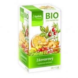 Apotheke BIO Zázvorový čaj s pomerančem 20 x 1.5g
