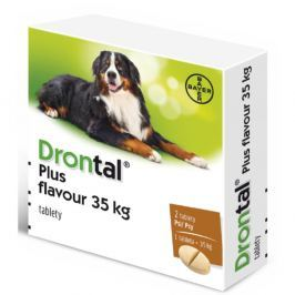 Drontal Plus flavour a.u.v. 35 kg 2 tablety Antiparazitika pro psy