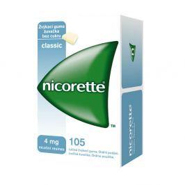 NICORETTE CLASSIC GUM 105X4 MG Žvýkačky Léky volně prodejné