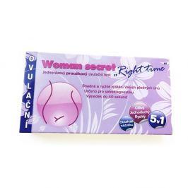 Ovulační test Woman Secret Right Time proužkový 5v1