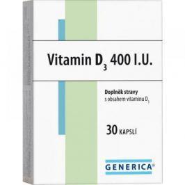 GENERICA Vitamin D3 400 I.U. 30 kapslí Vitamíny a minerály