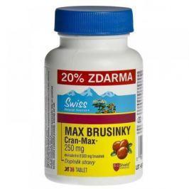 SWISS Max brusinky 30+6 tablet Doplňky stravy