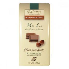 Balance mléčná čokoláda s lískovými ořechy bez přidaného cukru 100g