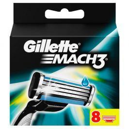 Gillette Mach 3 náhradní břity k holicímu strojku 8 ks Příslušenství k holicím strojkům