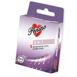 PEPINO prezervativy kondomy 3in1 3 kusy Kondomy, prezervativy