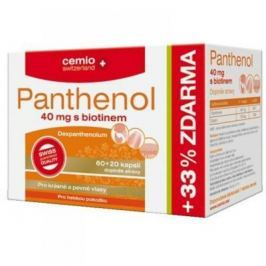 CEMIO Panthenol 40 mg s biotinem 60 + 20 kapslí ZDARMA