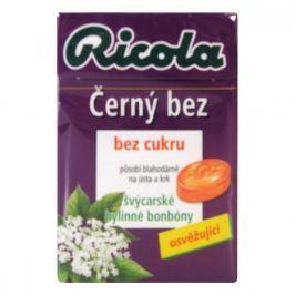 RICOLA Černý Bez 40g bez cukru Bonbóny