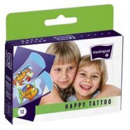 Náplast Matopat Happy Tattoo 12ks