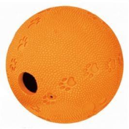 Hračka pes Míč s otvorem na krmivo 9cm