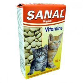 Sanal kočka Vitamins kalcium s vitamíny 60g/100tbl Krmivo a vitamíny pro kočky