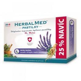 HERBALMED Dr.Weiss pastilky Šalvěj, ženšen, vitamin C 24+6 pastilek