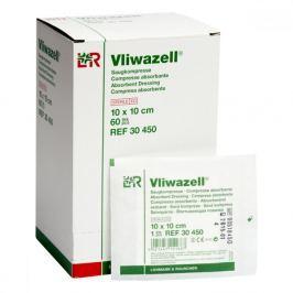 Komprese Vliwazell sterilní vysoce absorpční 10 x 10 cm 60 ks