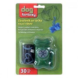 Pouzdro plast +sáčky na psí exkrementy zelený