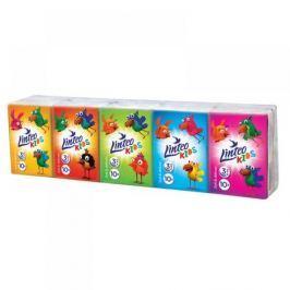 LINTEO Papírové kapesníky Kids mini 3-vrstvé 10x10 kusů