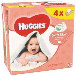 Huggies wipes quad (4x56) shea butter (soft skin)