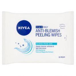 Nivea Visage Pure Effect Hloubkově čistící peelingové ubrousky 3v1 20 ks