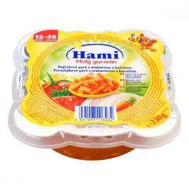 Hami příkrm Malý Gurmán rajčatové pyré s makarony a kuřicí 230g