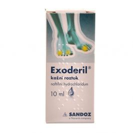 EXODERIL 1X10ML/100MG Roztok k zev. užití