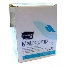 Matocomp 5 x 5cm 25x2ks sterilní komprese z gázy