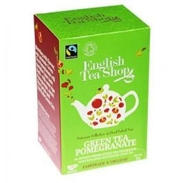 English Tea Shop Bio Fairtrade Zelený čaj Granátové jablko 20 s.