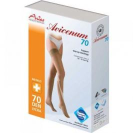 Stehenní samodržící punčochy Avicenum 70 tělová 25