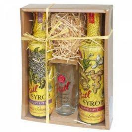 Kitl Syrob dárkové balení 2 x 500 ml + sklenička