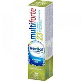 REVITAL Multi Forte Tropické ovoce 20 šumivých tablet