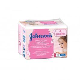 JOHNSON'S Baby vlhčené ubrousky Gentle Cleansing 4x56 ks