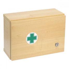 Lékárnička dřevěná s náplní do 5 osob-ZM 05