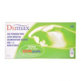 DUMAX Vyšetřující latexové rukavice nesterilní XS 100 kusů